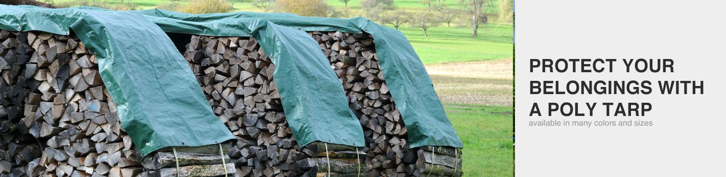 Heavy Duty Green/Silver Poly Tarps
