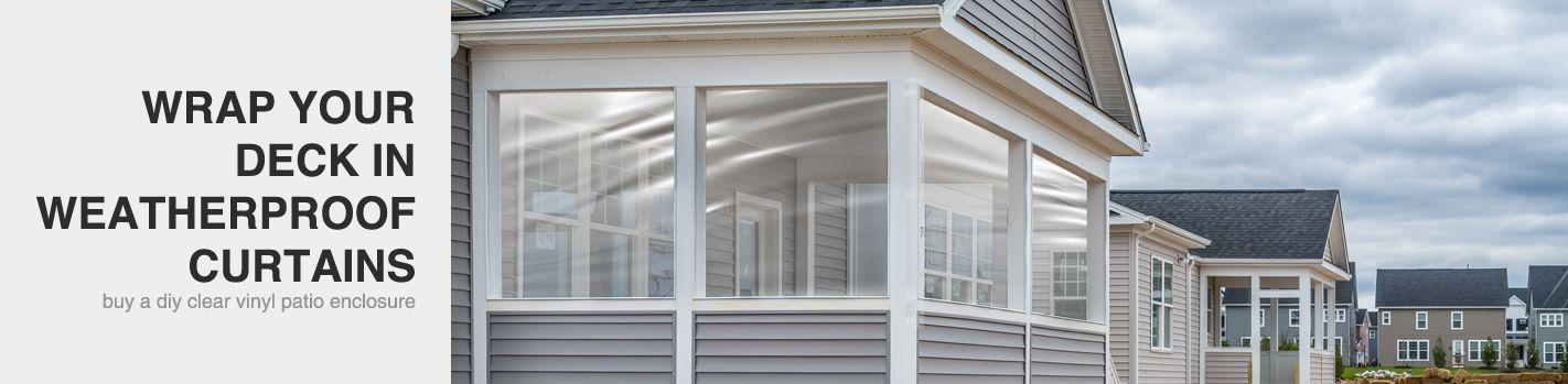 Clear Vinyl Porch Enclosures   Clear Vinyl Patio Enclosures
