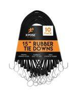 Molded Rubber Tie Down Straps (Pack of 10)