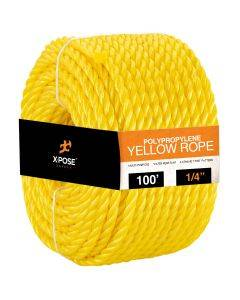 1/4 in. x 100 ft. Yellow Twisted Poly Rope