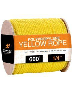 1/4 in. x 600 ft. Yellow Twisted Poly Rope