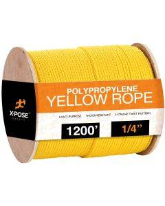 1/4 in. x 1200 ft. Yellow Twisted Poly Rope