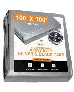 Heavy Duty Silver/Black Tarps 100' x 100'
