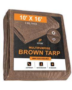 Brown Poly Tarps 10' x 16' - Case of 12