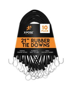 """21"""" Molded Rubber Tie Down Straps (Pack of 10)"""