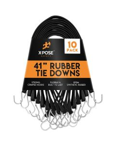 "41"" Molded Rubber Tie Down Straps (Pack of 10)"