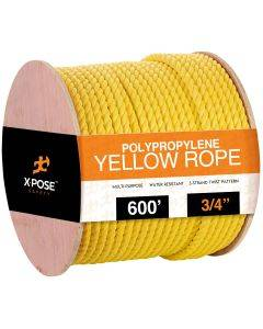 3/4 in. x 600 ft. Yellow Twisted Poly Rope