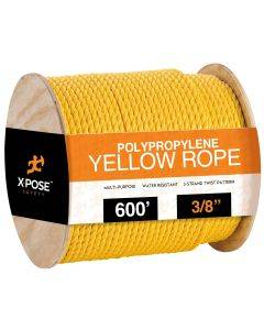 3/8 in. x 600 ft. Yellow Twisted Poly Rope