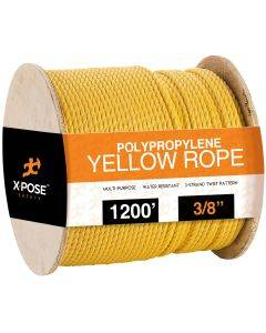 3/8 in. x 1200 ft. Yellow Twisted Poly Rope