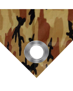 Brown  Camouflage Tarps 7' x 20' - Case of 15
