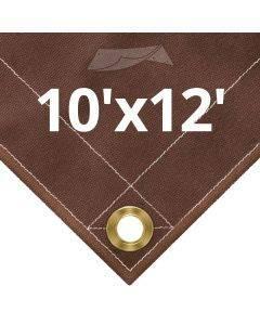 10 oz Brown Canvas Tarps 10' x 12'
