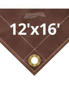 10 oz Brown Canvas Tarps 12' x 16'