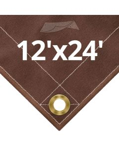Brown Canvas Tarps 12x24