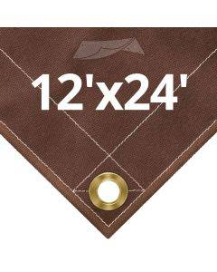 10 oz Brown Canvas Tarps 12' x 24'