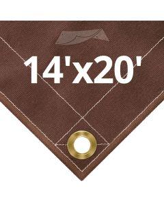 Brown Canvas Tarps 14x20