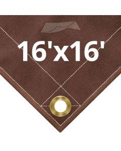 Brown Canvas Tarps 16x16