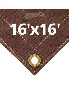 10 oz Brown Canvas Tarps 16' x 16'