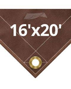 10 oz Brown Canvas Tarps 16' x 20'
