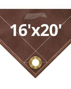 10 oz Brown Canvas Tarps 16' x 20'