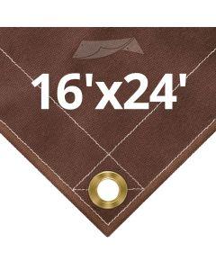 Brown Canvas Tarps 16x24