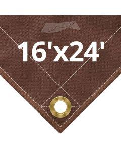 10 oz Brown Canvas Tarps 16' x 24'
