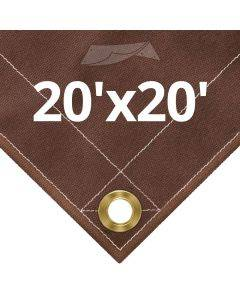 10 oz Brown Canvas Tarps 20' x 20'
