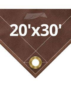 10 oz Brown Canvas Tarps 20' x 30'