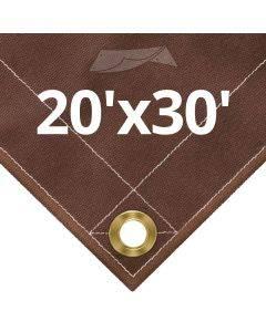 10 oz Brown Canvas Tarps 20' x 30'