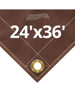 Brown Canvas Tarps 24x36