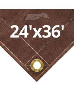 10 oz Brown Canvas Tarps 24' x 36'