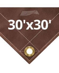 10 oz Brown Canvas Tarps 30' x 30'