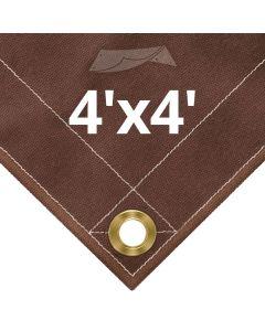 Brown Canvas Tarps 4x4