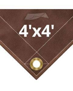 10 oz Brown Canvas Tarps 4' x 4'