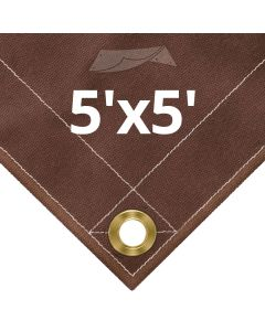 Brown Canvas Tarps 5x5