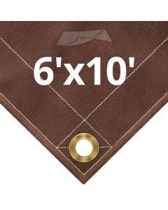 10 oz Brown Canvas Tarps 6' x 10'