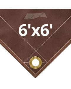 Brown Canvas Tarps 6x6