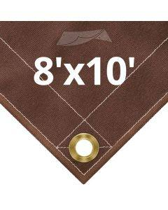 10 oz Brown Canvas Tarps 8' x 10'
