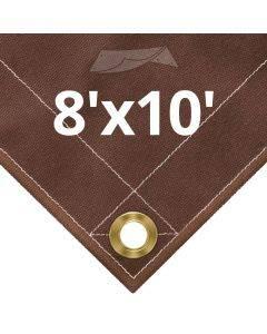10 oz Brown Canvas Tarps 8' x 10'