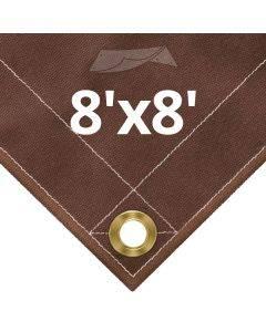 10 oz Brown Canvas Tarps 8' x 8'