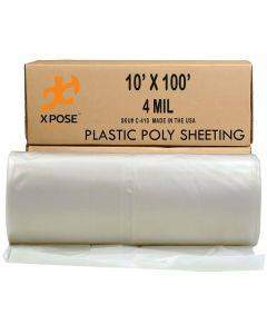 10-ft x 100-ft Clear 4-mil Plastic Poly Sheeting
