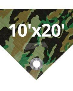 Camouflage Tarps 10' x 20'