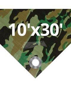 Camouflage Tarps 10' x 30'