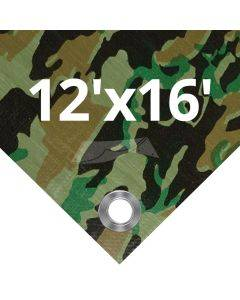Camouflage Tarps 12' x 16'
