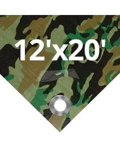 Camouflage Tarps 12' x 20'