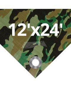 Camouflage Tarps 12' x 24'