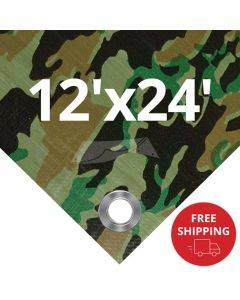 Camouflage Tarps 12' x 24' - Case of 7
