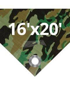 Camouflage Tarps 16' x 20'