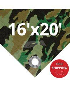 Camouflage Tarps 16' x 20' - Case of 6
