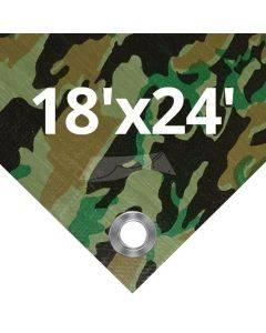 Camouflage Tarps 18' x 24'