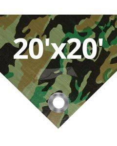 Camouflage Tarps 20' x 20'